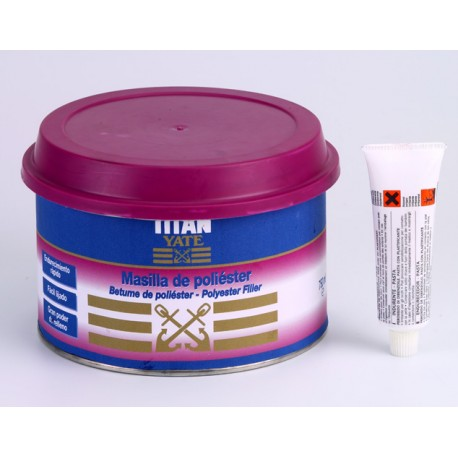 Masilla Poliester Titan Yate 2 Componentes 500g