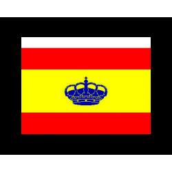 Bandera Española con Corona 20x30