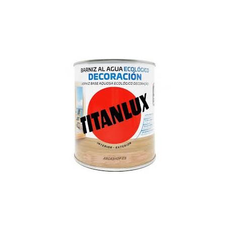Barniz Titanlux Al Agua 750ml. Satinado